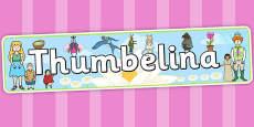 Thumbelina Display Banner