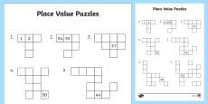 Australia - Missing Numbers Hundred Square Puzzle
