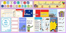 Australia - Classroom Set Up Pack