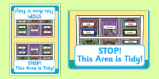 STOP! This Area Is Tidy Cards