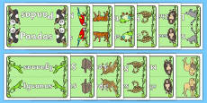 Editable Group Table Signs (Jungle & Rainforest)
