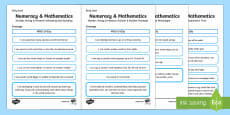 CfE Early Level Numeracy & Maths Child Friendly Assessment Tracker