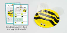 Paper Bowl Bee Craft Instructions