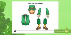 St Patrick's Day Leprechaun Split Pin Activity