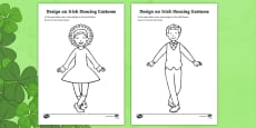 ROI Design an Irish Dancing Costume Colouring Page