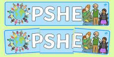 PSHE Display Banner
