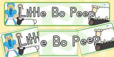 Little Bo Peep Display Banner (Australia)