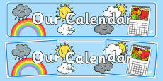 Our Calendar Display Banner