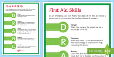 First Aid   Dr ABC Display Poster