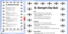 Elderly Care St George's Day Quiz