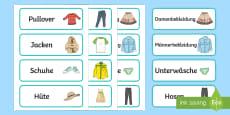 Clothes Shop Labels German