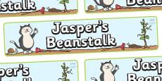 Display Banner to Support Teaching on Jasper's Beanstalk