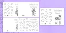 Tarjetas para colorear El día de la madre