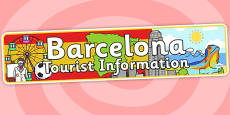 Barcelona Tourist Information Office Role Play Banner