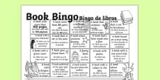 Book Bingo Activity Sheet Spanish Translation