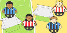Football Pitch Goal Player Cut Out Pack