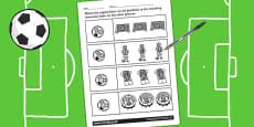 Football Themed Capital Letter Matching Activity Sheet