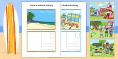 Australia - Create a Postcard Activity