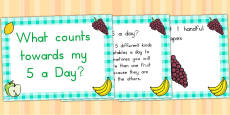 Australia - EYFS What Counts Towards My 5 a Day PowerPoint