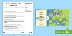 European Neighbours' Day Europe Quiz Pack