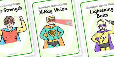 Superhero Rescue Centre Role Play Diplay Posters