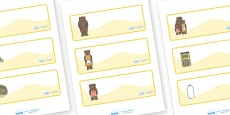 Goldilocks and the Three Bears editable Drawer, Peg, Name Labels