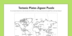Tectonic Plates Jigsaw Puzzle Activity