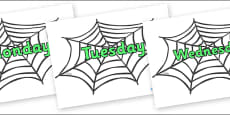 Days of the Week on Spiders Web