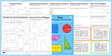 * NEW * Area and Perimeter Resource Pack