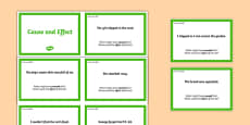 Guided Reading Skills Task Cards Cause and Effect