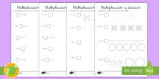 Fichas de actividad: Multiplicación y división