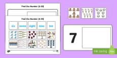 Workstation Pack: Find the Number (6 -  10) Activity