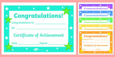 Reward Certificates