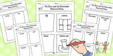 The Elves and the Shoemaker Read and Draw Worksheet