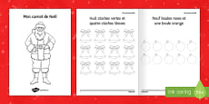 My Christmas Notebook Colouring Activity Sheet French