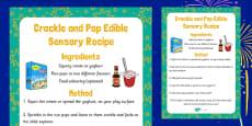 Crackle and Pop Edible Sensory Recipe