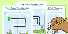 Rugby Pencil Control Path Activity Sheets Polish Translation