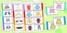 Clothes Loop Cards