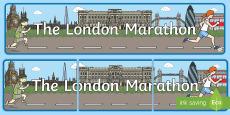 The London Marathon Display Banner