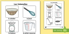 Cooking Utensils Poster - French
