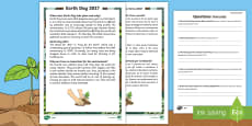 Earth Day Differentiated Reading Comprehension Activity English/Italian
