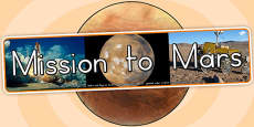 Mission to Mars Photo Display Banner (Australia)