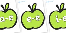 Modifying E Letters on Apples