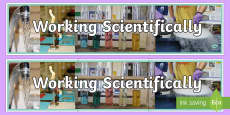 Working Scientifically Photo Display Banner