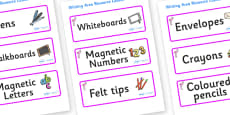Flamingo Themed Editable Writing Area Resource Labels