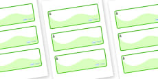 Spruce Themed Editable Drawer-Peg-Name Labels (Colourful)