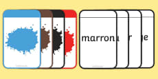 French Colour Matching-Flashcards