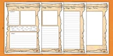 Magic Potion Writing Worksheet