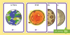 Our Solar System Display Posters Spanish