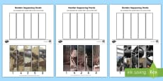 Dinosaur Themed Number Sequencing Photo Puzzles